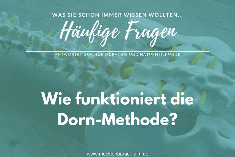 Wie funktioniert die Dorn-Methode?